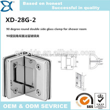 Round 135 degree stainless steel glass bathroom shower clamp,shower door pivot hinge hardware