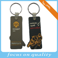 Auto Motorcycle sport design 3d soft pvc bag tag double side keychain vinyl