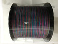 2017 most popular rainbow color braided line 100% PE line