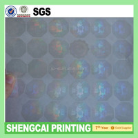 3D security Custom transparent hologram stickers