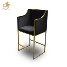 black velvet gold stainless steel bases bar stool for sales