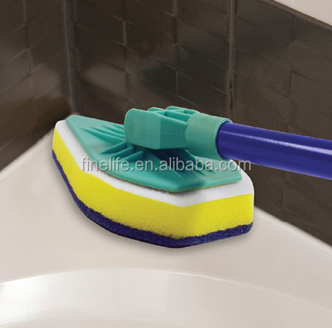 Clean Reach 3 in 1 triangle shape mop sponge microfiber magic tile triangle mop