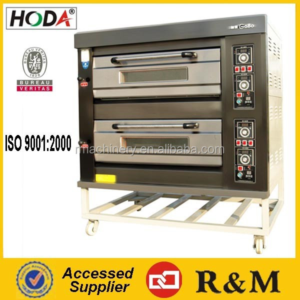 gas double racks automatic bread bakery oven