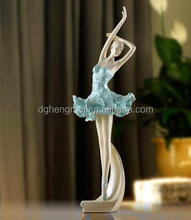 polyresin colorful dancer figurines