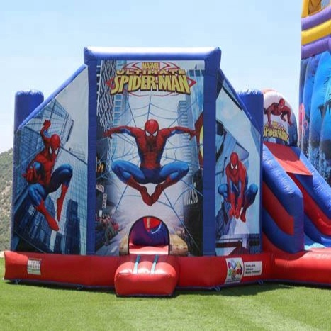 used commercial inflatable Comic bounce house for sale jumping castle