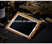 New Simple style leather flip case for ipad 2/3/4,for Apple ipad case accessories