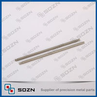 Straight stainless steel pin with thread in two ends
