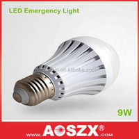 Rechargeable Battery back up 9W Emergency LED light bulb