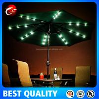 patio umbrella with led light,garden decoration umbrella,led outdoor parasol light.