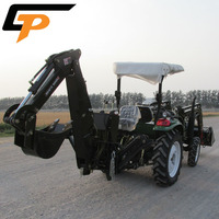 weifang CP machinery farm equipment 4x4 40 hp top quality tractor with front end loader and backhoe