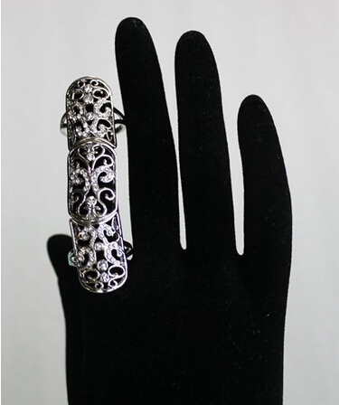 Celeb's Double Full Finger Armor Knuckle Long Ring Gothic Punk Rock Finger Ring