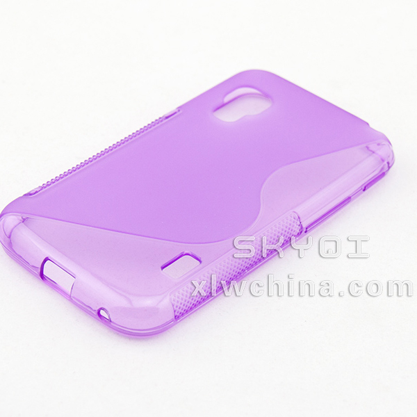 popular wholesale S curve TPU back cover phone case for samsung galax S3 mini i8190