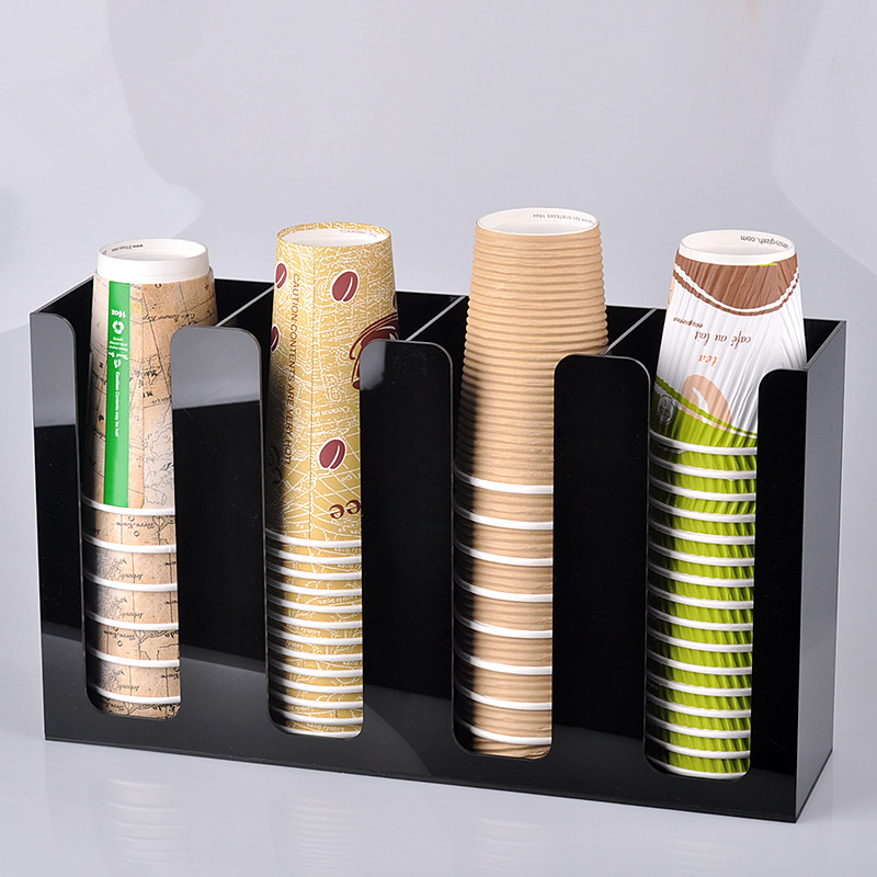 Wholesale acrylic stand display for drink paper cups