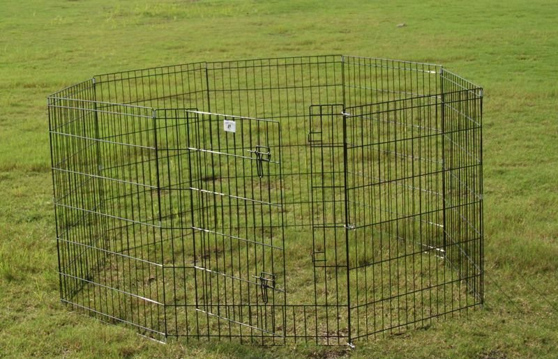 8panels metal wire rabbit play pen