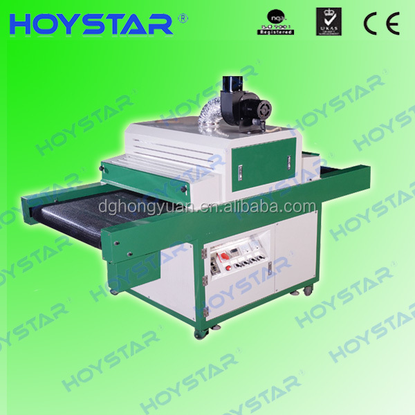 tunnel screen printing uv dryer for plastic ruler