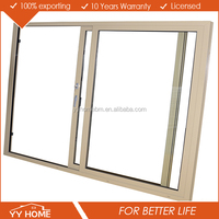 Double glazing Low E glazing solid wooden sliding closet doors