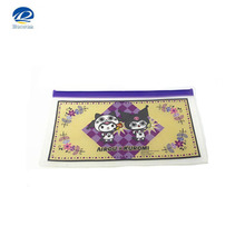 Printed PVC Zipper Document File Bag, Offset Printing PVC Zipper Slide Document Bag