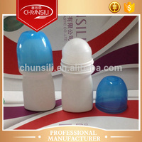 Wholesale 4 parts with holder and ball 50ml roller plastic detergent bottle