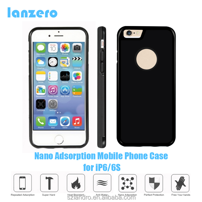 Magical Nano Adsorption Mobile Phone Case for iPhone 6/6S New Fashional Case Adsorption All Kind of Plane