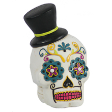 Resin mexican day of the dead couple skull gifts