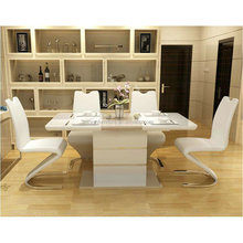 Home dining table and chair combination 6 people simple modern