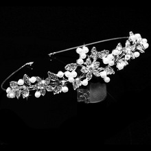Hot Selling Pearl Tiara Flower Crown Wedding bridal <strong>hair</strong> <strong>Accessories</strong>