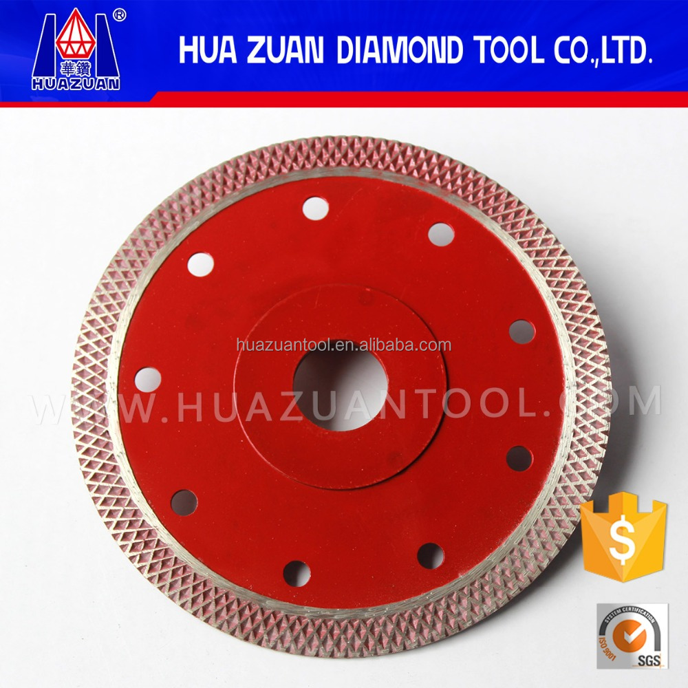 2016 New Arrival Angle Grinder Use Ultra Thin Dry Cutting Disc Diamond Saw Blades for Ceramic Porcelain Tile