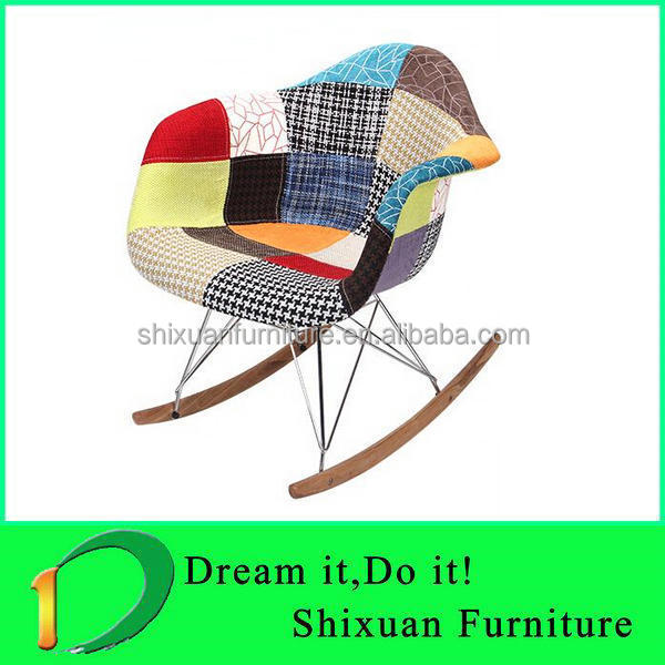 inexpensive plastic patchwork rocking chair for sale