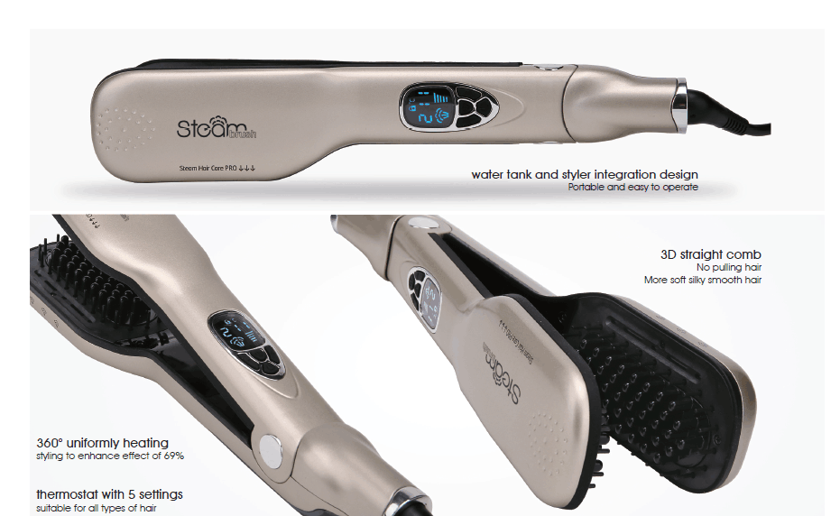 Hot Selling Product Professional Ceramic Flat Iron Hair Straightener With Steam
