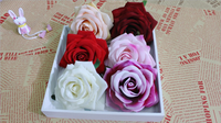 Artificial Flower Heads Red Silk Plastic Rose Flower Buy Direct From China Factory DIY Wedding Decoration
