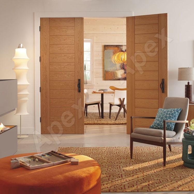 Design moderne ch ne en bois massif porte d 39 entr e - Porte d entree en bois massif moderne ...