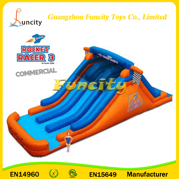 3 Lane Racing Slide Inflatable Slip And Slide Commercial Inflatable Slide For Kids And Adults