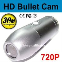 ND36 720P Bullet outdoor sports camera with 30m waterproof