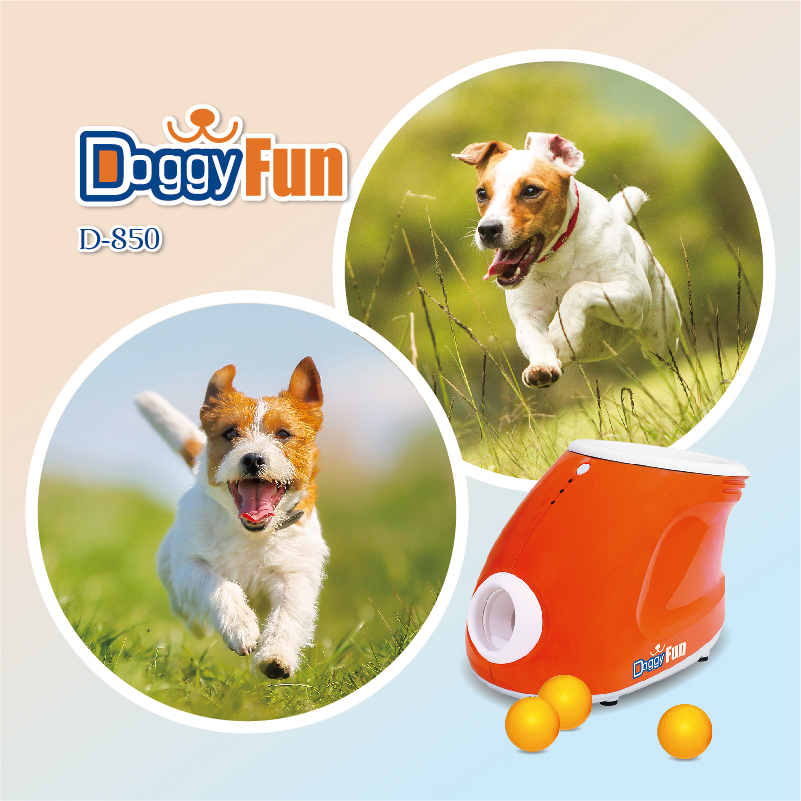 Fun interactive plastic automatic ball launcher for pet