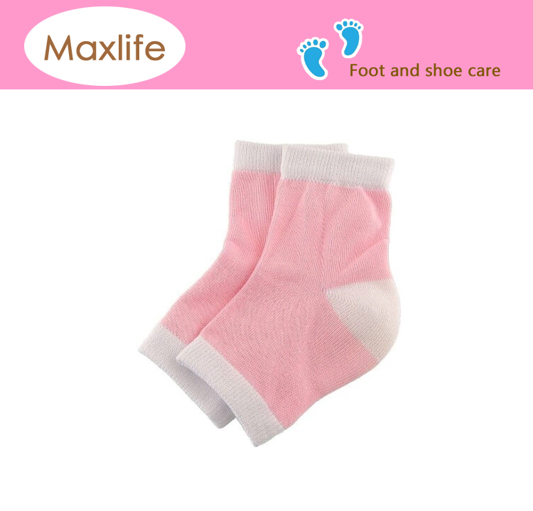 Spa Moisturizing Gel Soft Socks Dry Cracked Heel Care Skin Repair Therapy Treatment (Pink)