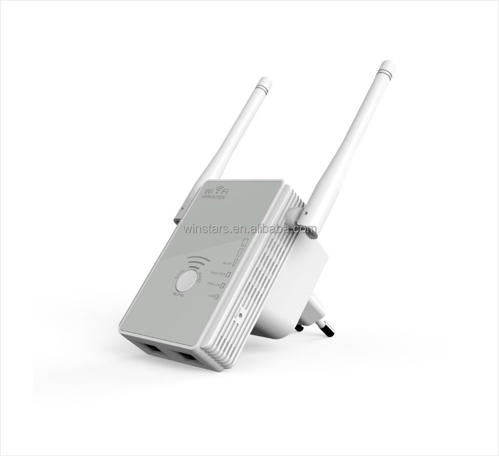 N300 DualBand WiFi Repeater/APwith external antenna. Improves wireless coverage in all WLAN networks
