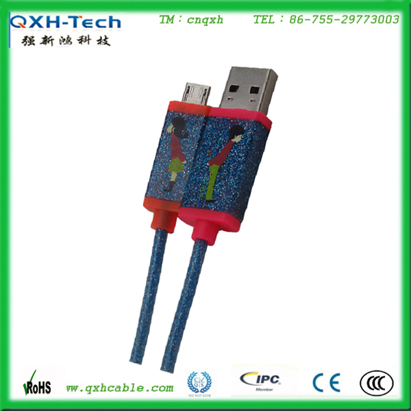 Custom charging cable shining Usb cable LED charging cable