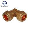 Green-GutenTop New Type Brass equal elbow compression plumbing pipe fitting 4mm to 54mm