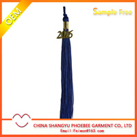 Hot Sell Graduation Cap Navy Tassel With Gold 2016 Charms