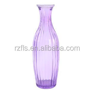 Purple glass vases with home deco/ painting glass vase with purple color