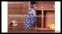 FOR IPHONE 5 3D bling crystal diamond phoenix peacock case