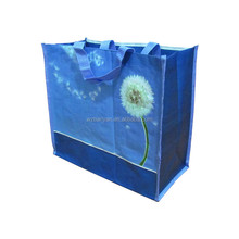 bag for packing cheap reusable printed shopping woven bag