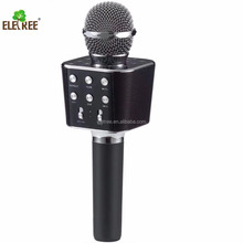 Cheap mini wireless mic microphone with gold, rose gold, black color stylish portable KTV Karaoke