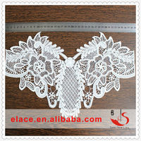 High-grade fashion white embroidery collar pattern neck design of blouse