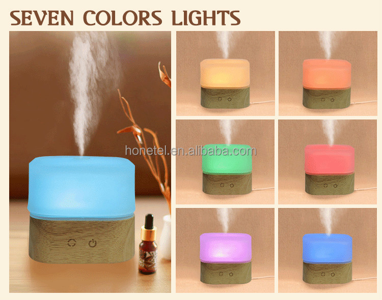 2018 Trending Product HTX-5009 Wooden LED Cool Mist Ultrasonic Aroma Essential Oil Diffuser Aromatherapy Diffuser