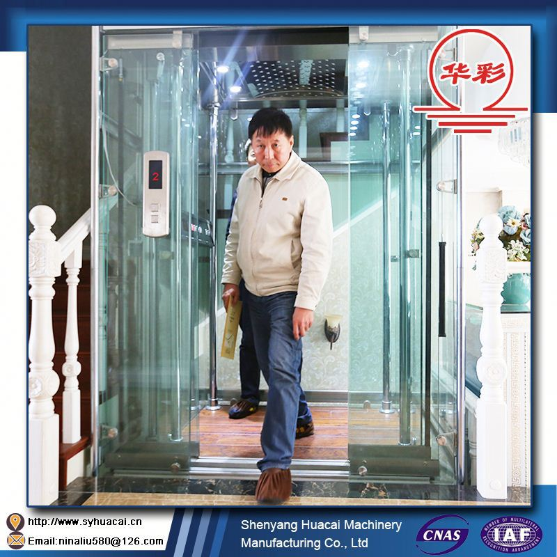 HC-320 Ecnomic glass super nice hyundai elevator parts