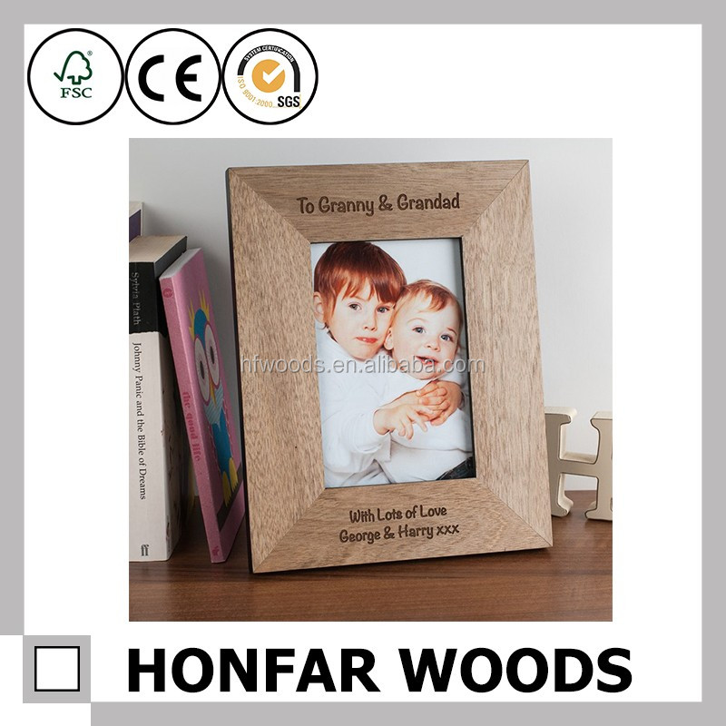 Baby love FSC wood laser cut baby photo frame for family gift