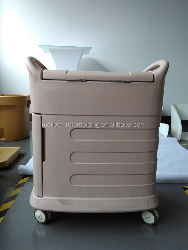 Roto-molded containers insulated Wheeled ICE STORAGE WAGON