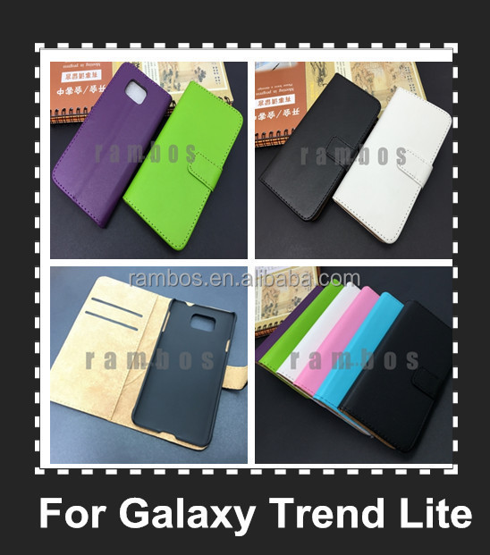 Mobile Phone Flip Leather Wallet Case Cover with Card Slots for Samsung Galaxi s4 i9500 / Galaxy Trend Lite S7392 S7390