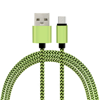 hotsale round nylon Braided 2A fast charge usb data charger copper wire for Samsung sony HTC xiaomi Braided electric cable